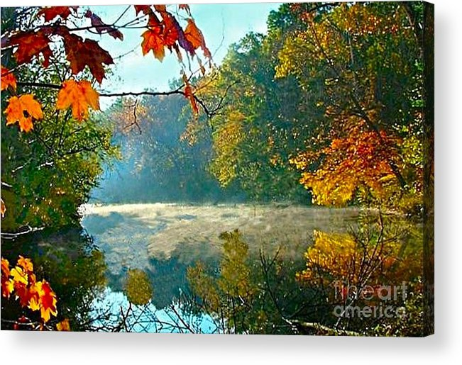 White River Scene Acrylic Print featuring the photograph Autumn On The White River I by Julie Dant