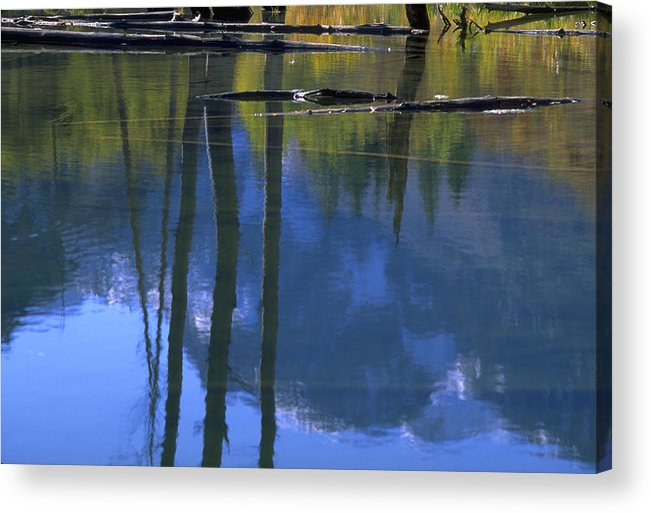 Autumn Colors And Reflections Acrylic Print featuring the photograph Autumn Pond by John Farley