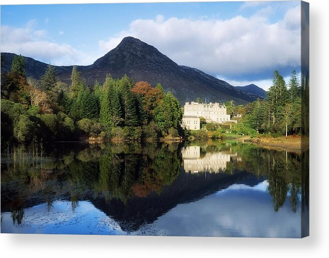 Autumn Acrylic Print featuring the photograph Ballynahinch Castle Hotel, Twelve Bens by The Irish Image Collection
