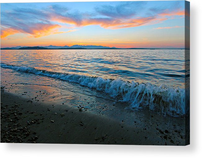 Landscape Acrylic Print featuring the photograph Beach Sunset by Paul Fell