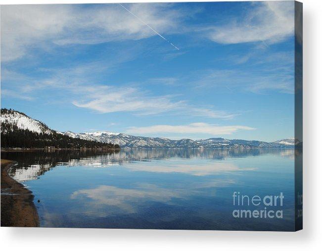 Lake Tahoe Acrylic Print featuring the photograph Beautiful Lake Tahoe by Nancy Chambers