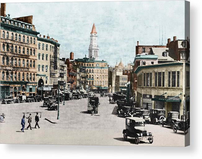 1919 Acrylic Print featuring the photograph Boston: Bowdoin Square by Granger