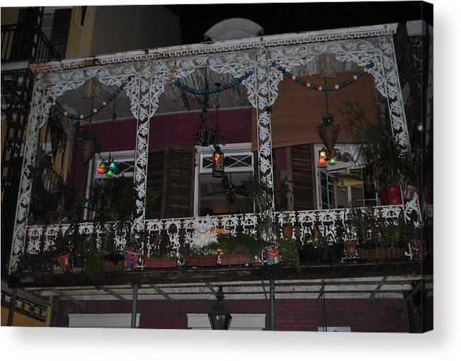 Balcony Acrylic Print featuring the photograph Bourbon Street Balcony by Nimmi Solomon