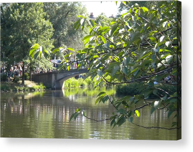 Boston Acrylic Print featuring the photograph Bridge Near The Charles by Patricia Williams