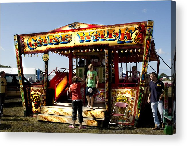 Classic Fairground Ride Acrylic Print featuring the photograph Cakewalk by Peter Jenkins