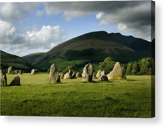 Castlerigg Stone Circle Acrylic Print featuring the photograph Castlerigg by Peter Jenkins