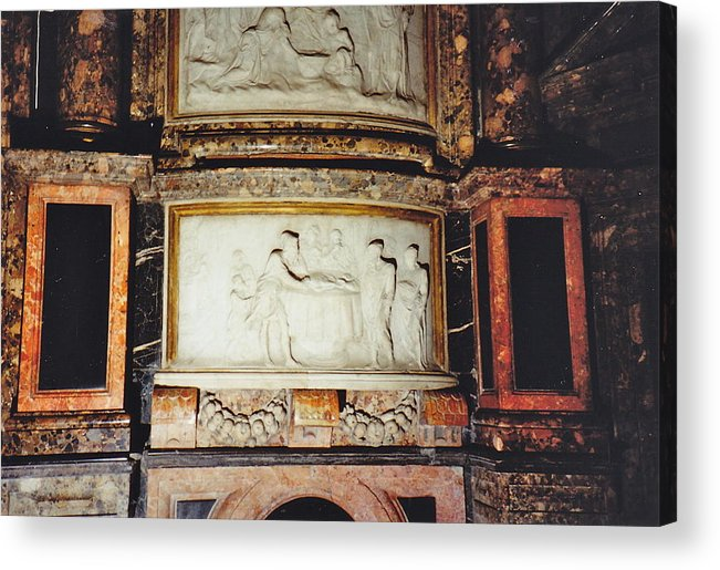 Carved Art Acrylic Print featuring the photograph Cathedral Art by Barbara Plattenburg