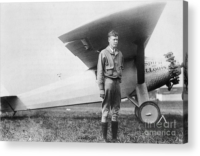Charles Lindbergh Acrylic Print featuring the photograph Charles Lindbergh American Aviator by Photo Researchers