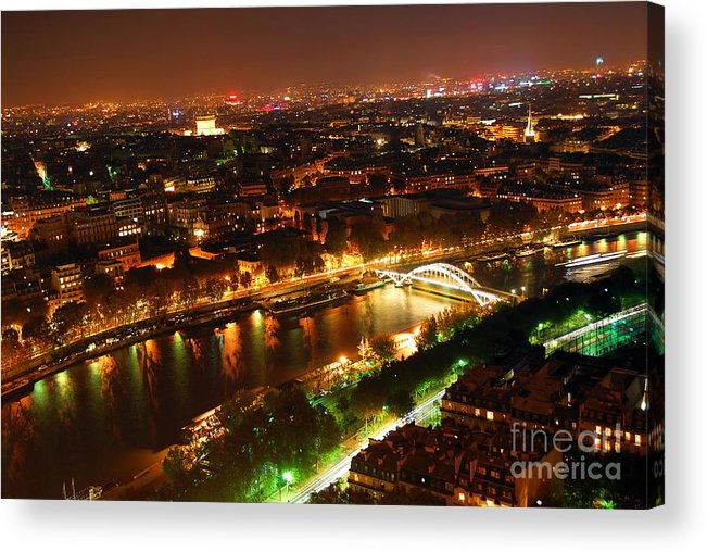Aerial Acrylic Print featuring the photograph City Of Light by Elena Elisseeva