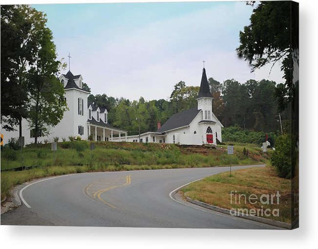 Church Acrylic Print featuring the photograph Country Church In Texture by Jost Houk