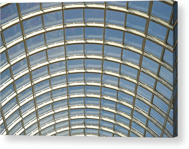 Domed Glass Roof Low Angle View Ful Frame Acrylic Print By Liz