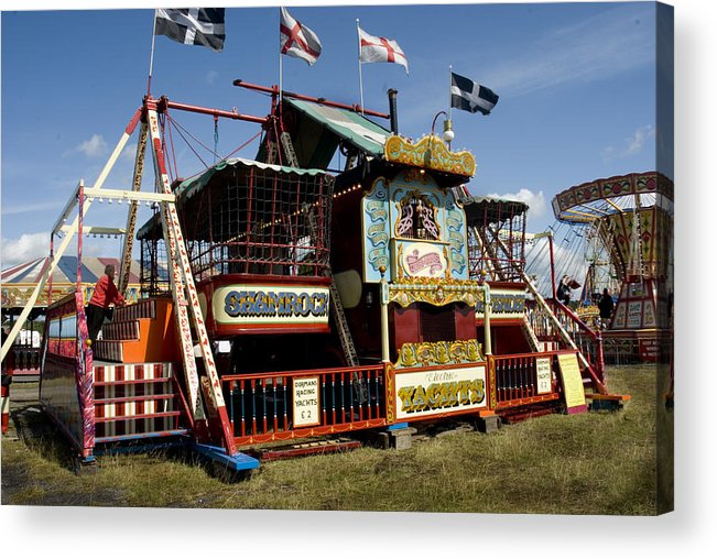 Classic Fairground Ride Acrylic Print featuring the photograph Dormans Electric Racing Yachts by Peter Jenkins