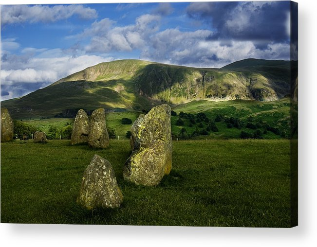 Castlerigg Stone Circle Acrylic Print featuring the photograph Edge Of Circle by Peter Jenkins