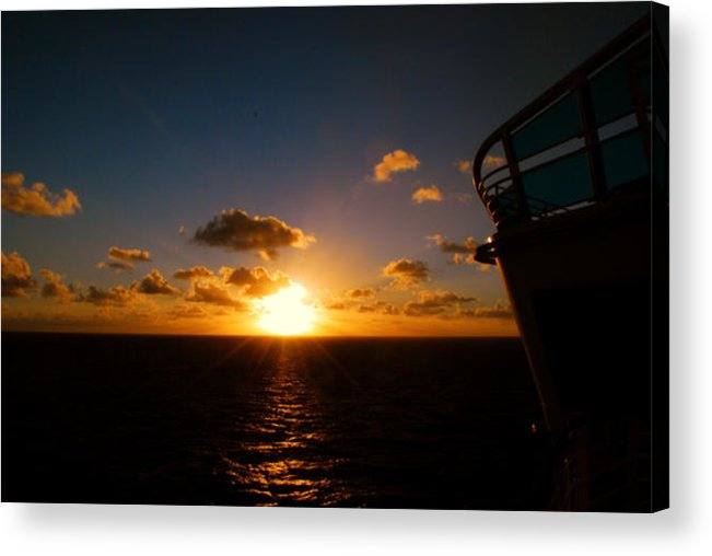 Sunset Acrylic Print featuring the photograph End Of The Day by Gary Wonning