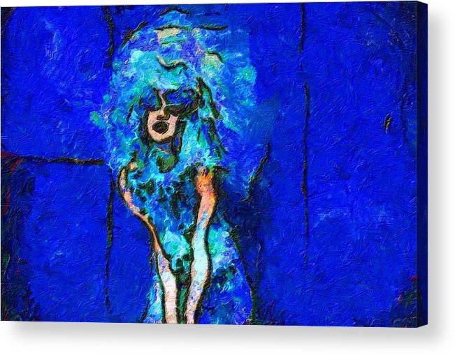 Impressionist Fashion Painting Acrylic Print featuring the painting Fashion 321 by Jacques Silberstein