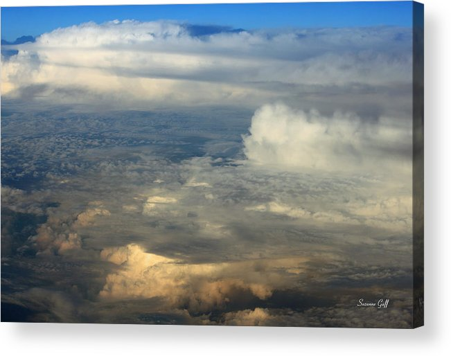 Cloud Acrylic Print featuring the photograph From Above by Suzanne Gaff