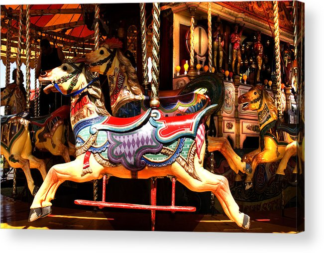 Classic Fairground Ride Acrylic Print featuring the photograph Galloper by Peter Jenkins