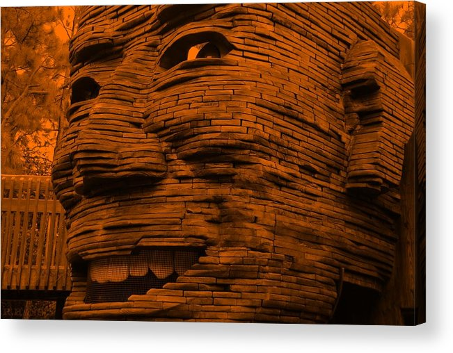 Architecture Acrylic Print featuring the photograph Gentle Giant In Orange by Rob Hans