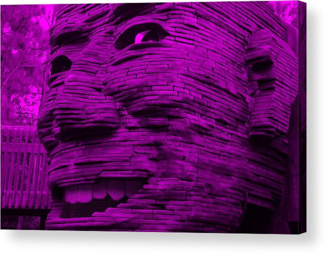 Architecture Acrylic Print featuring the photograph Gentle Giant In Purple by Rob Hans