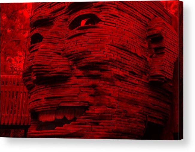 Architecture Acrylic Print featuring the photograph Gentle Giant In Red by Rob Hans