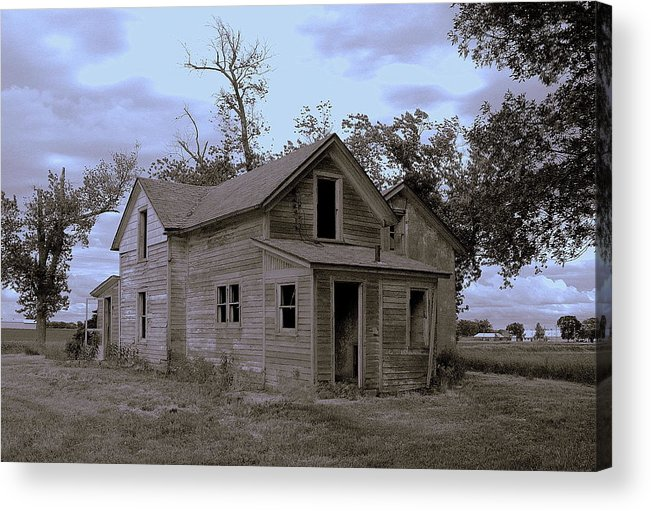 House Acrylic Print featuring the photograph Gone by Claude Oesterreicher