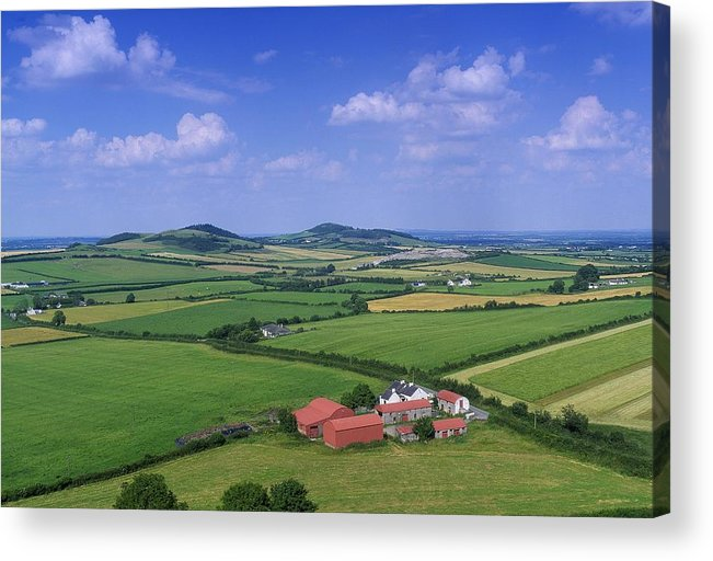 Architecture Acrylic Print featuring the photograph High Angle View Of Fields, Stradbally by The Irish Image Collection