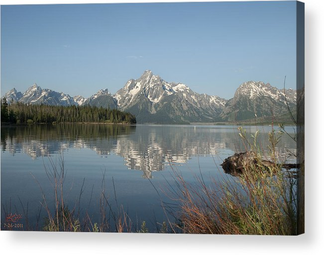 Reflection Acrylic Print featuring the photograph Jackson Lake by Kenneth Hadlock