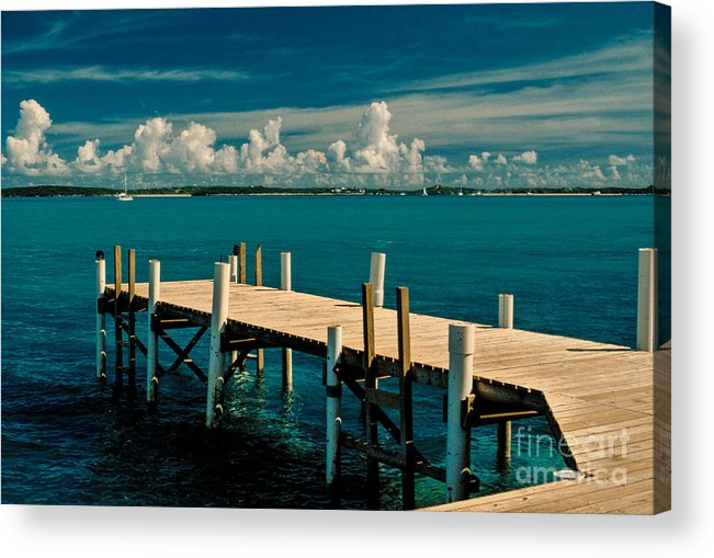Bahamas Acrylic Print featuring the photograph Jetty To Stocking Island by Michael Canning