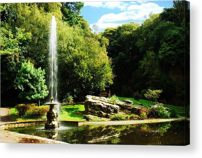 Acrylic Print featuring the photograph Lancaster Fountain by Peter Jenkins