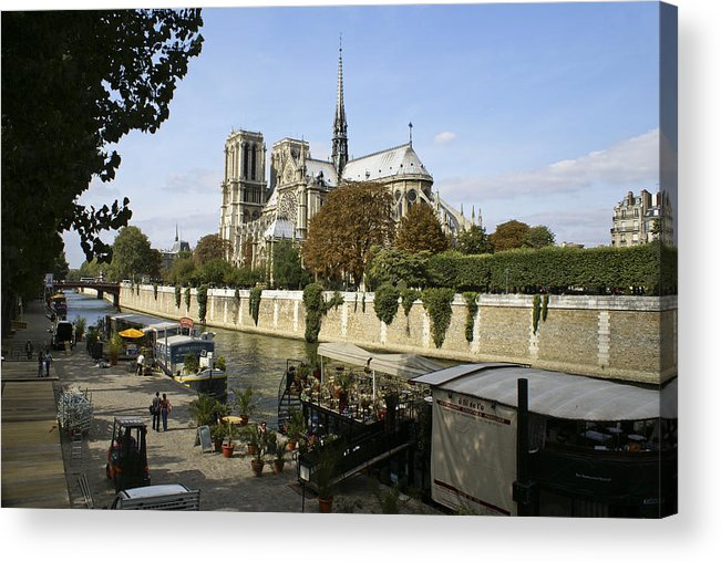 French Acrylic Print featuring the photograph Life Along The River Seine by Julie Black