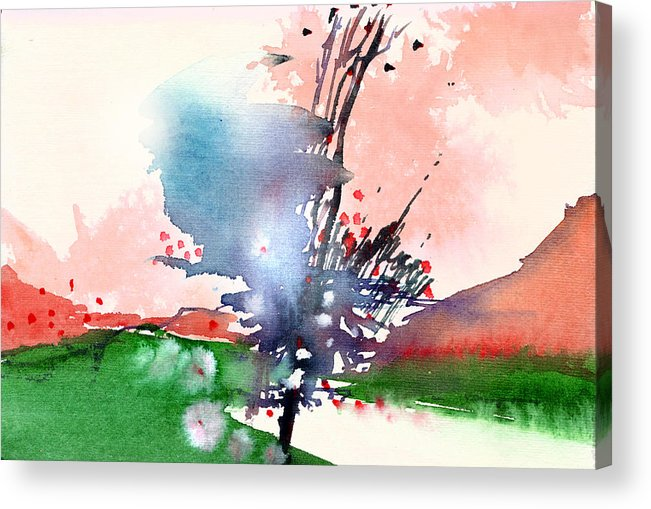 Landscape Acrylic Print featuring the painting Light 2 by Anil Nene