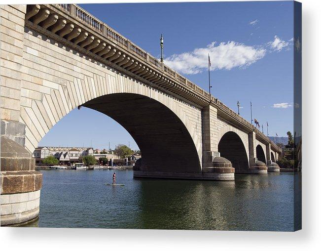 America Acrylic Print featuring the photograph London Bridge by Gloria & Richard Maschmeyer