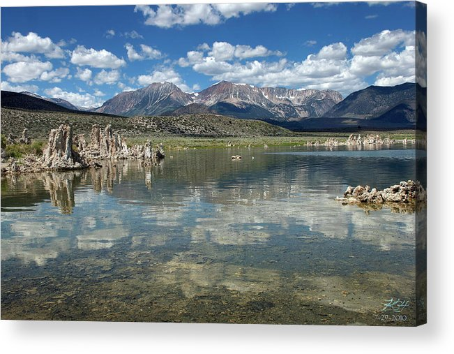 Tufa Acrylic Print featuring the photograph Looking West by Kenneth Hadlock