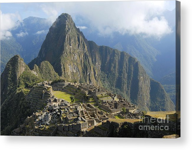 Machu Acrylic Print featuring the photograph Machu Picchu by Tomaz Kunst
