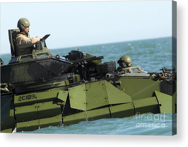 Exercise Bold Alligator Acrylic Print featuring the photograph Marines Transit The Atlantic Ocean by Stocktrek Images