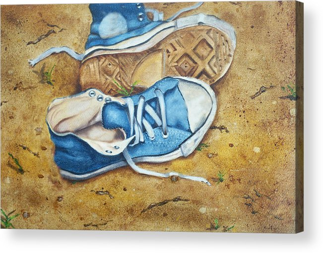 Converse Acrylic Print featuring the painting My Blues by Ann Marie Napoli