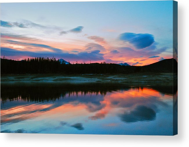 Colorado Acrylic Print featuring the photograph November Sunrise by Bob Berwyn