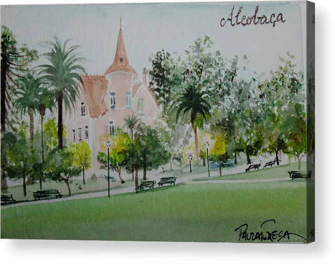 Palace Acrylic Print featuring the painting Palace by Paula Teresa