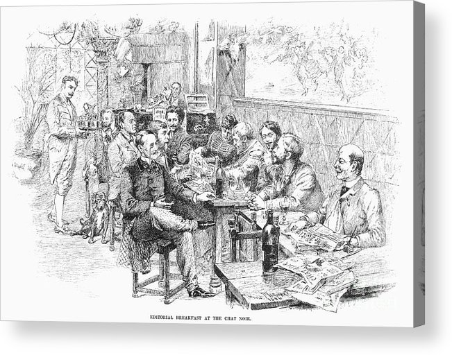 1889 Acrylic Print featuring the photograph Paris: Chat Noir, 1889 by Granger