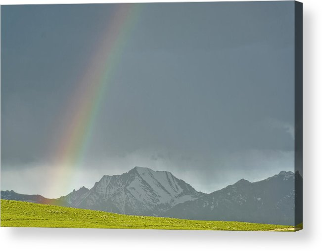 Americas Acrylic Print featuring the photograph Rainbow Against The Crazy's by Roderick Bley