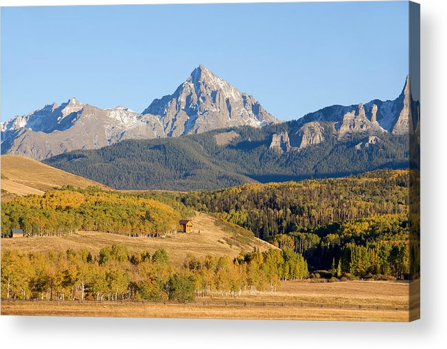 Fine Art Photography Acrylic Print featuring the photograph Ranching The Sneffels by David Lee Thompson
