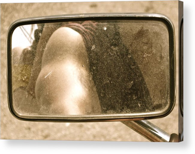Motorcycle Acrylic Print featuring the photograph Rear View Mirror by Diana Ogaard