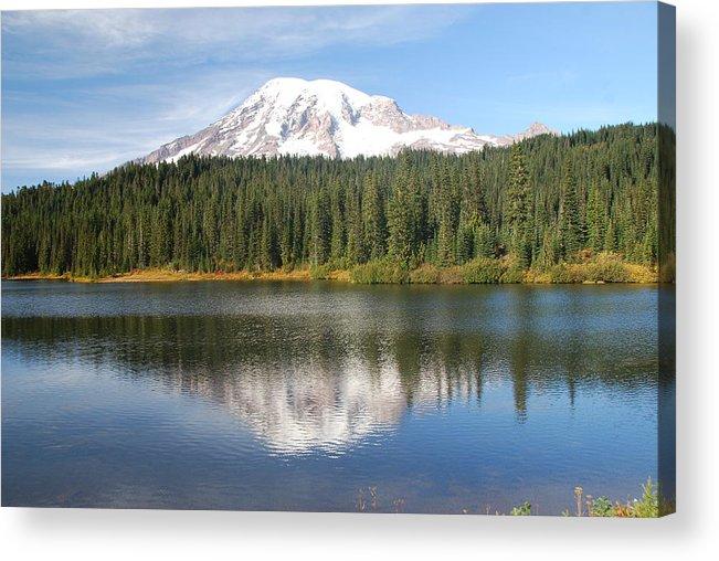 Rainier Acrylic Print featuring the photograph Reflection Lake - Mt. Rainier by Michael Merry