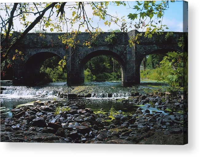 Arch Acrylic Print featuring the photograph River Annalee, Ballyhaise, Co Cavan by The Irish Image Collection