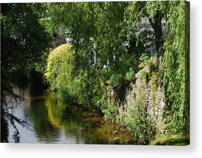 Cartmel Acrylic Print featuring the photograph River Eaa by Peter Jenkins