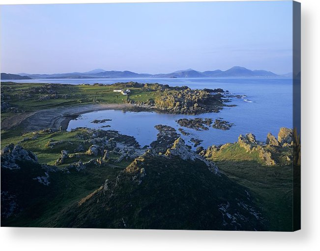 Bay Acrylic Print featuring the photograph Rocks On The Coast, Malin Head, County by The Irish Image Collection
