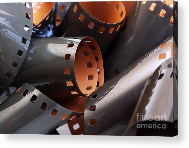 35mm Acrylic Print featuring the photograph Roll Of Film by Carlos Caetano