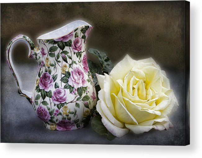 Rose Acrylic Print featuring the photograph Roses Speak Of Romance by Kathy Clark