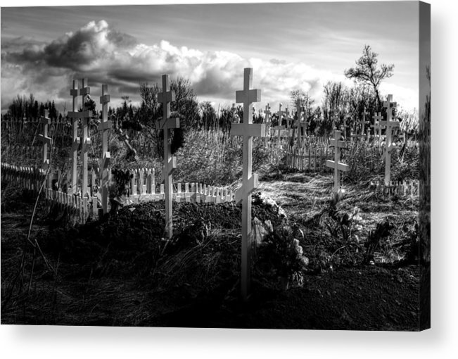 Russian Acrylic Print featuring the photograph Russian Cemetery by Michele Cornelius