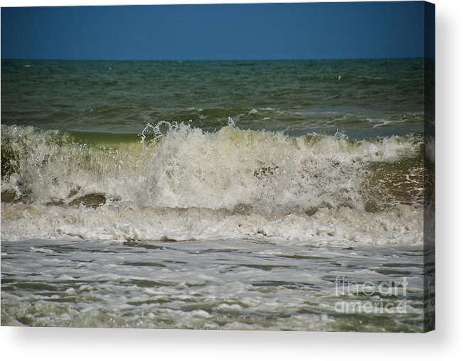 Beach Acrylic Print featuring the photograph September Beach 2 by Susanne Van Hulst